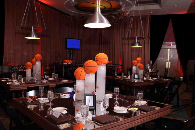How to throw an out of this world bar or bat mitzvah for Athletic banquet decoration ideas