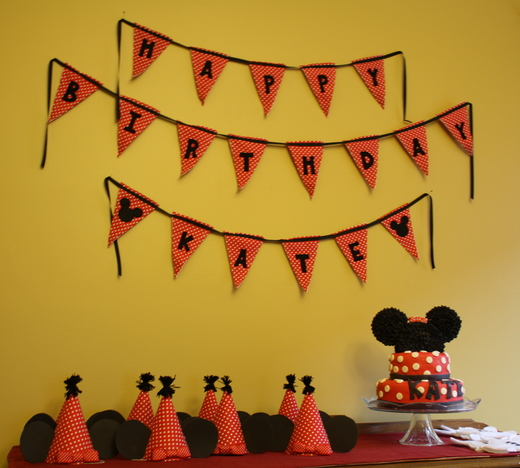 : Homemade Mickey Mouse and Minnie Mouse Parties on Catch My Party ...