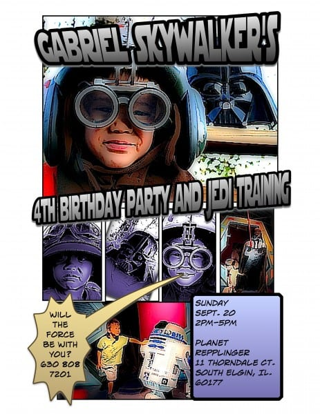 Star Wars Birthday Invitations. The invitation