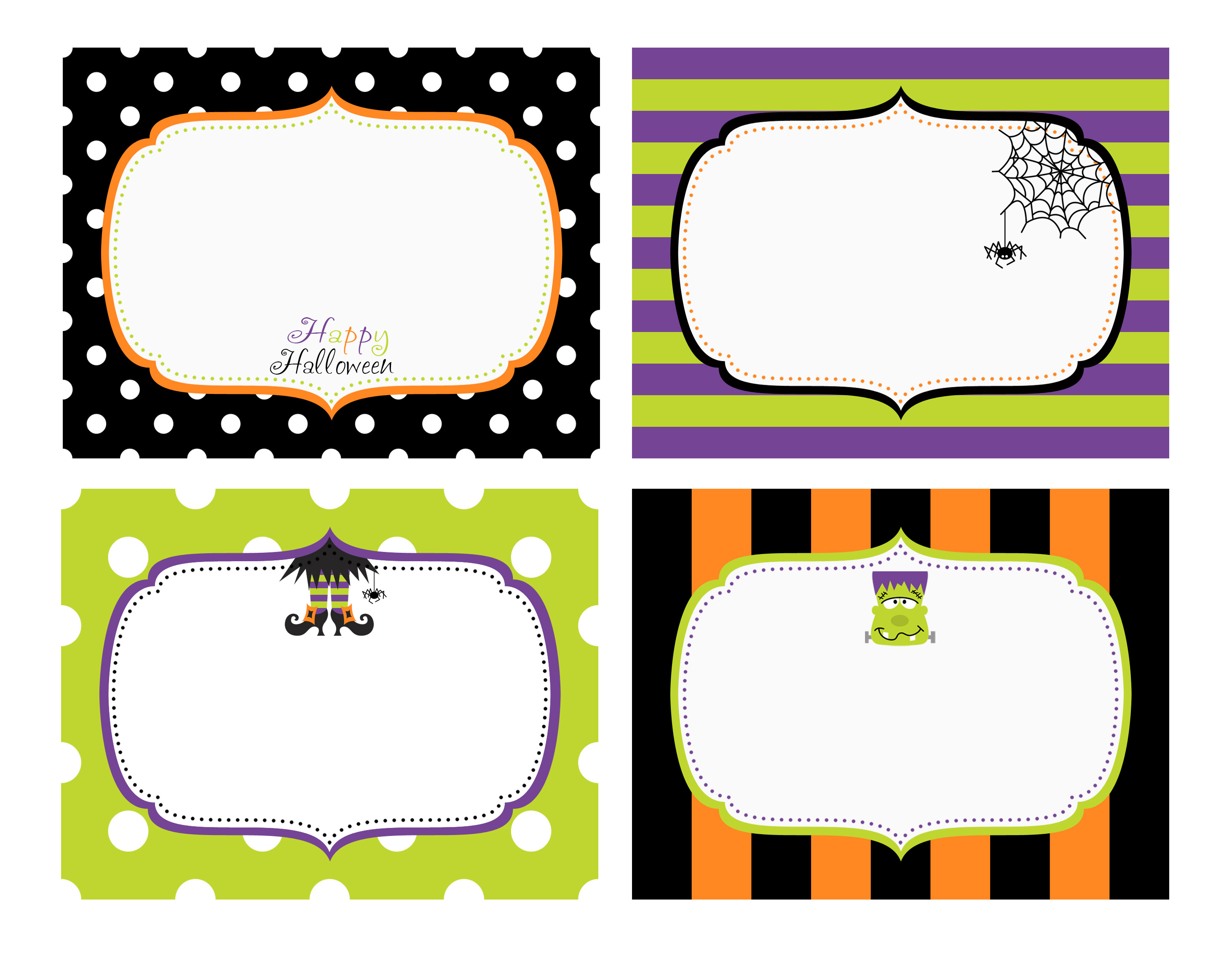 free halloween card templates