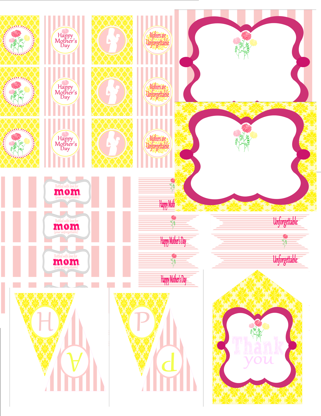 free mother 39 s day party printables from 9 to 5 mom catch my party. Black Bedroom Furniture Sets. Home Design Ideas