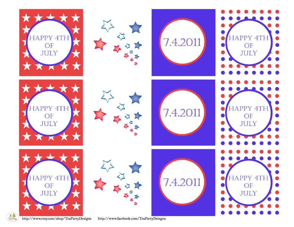 FREE July 4th Printables From Tea Party Designs