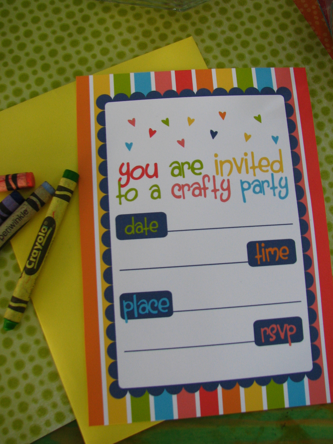 FREE Arts & Crafts Party Printables from Sugarsticks Parties | Catch ...