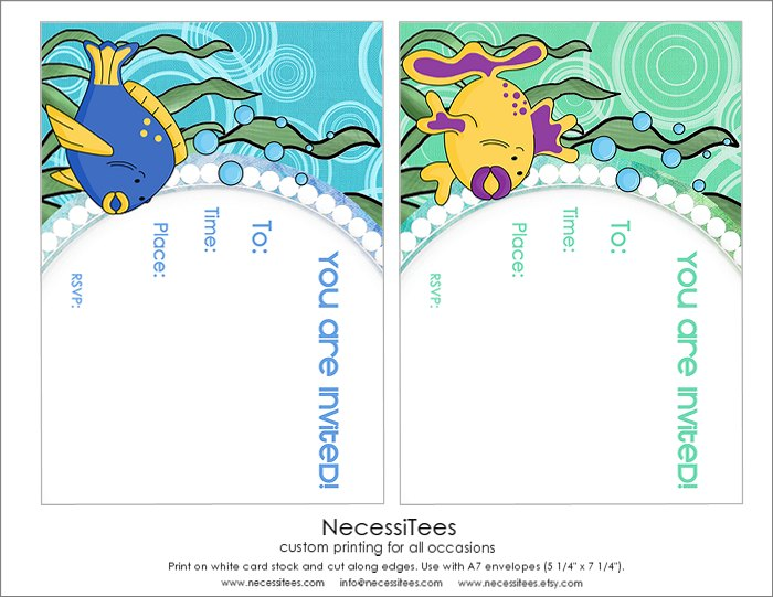 Download The Under Sea Printables Here