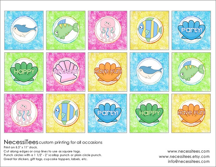 It's just an image of Satisfactory Under the Sea Printables Free