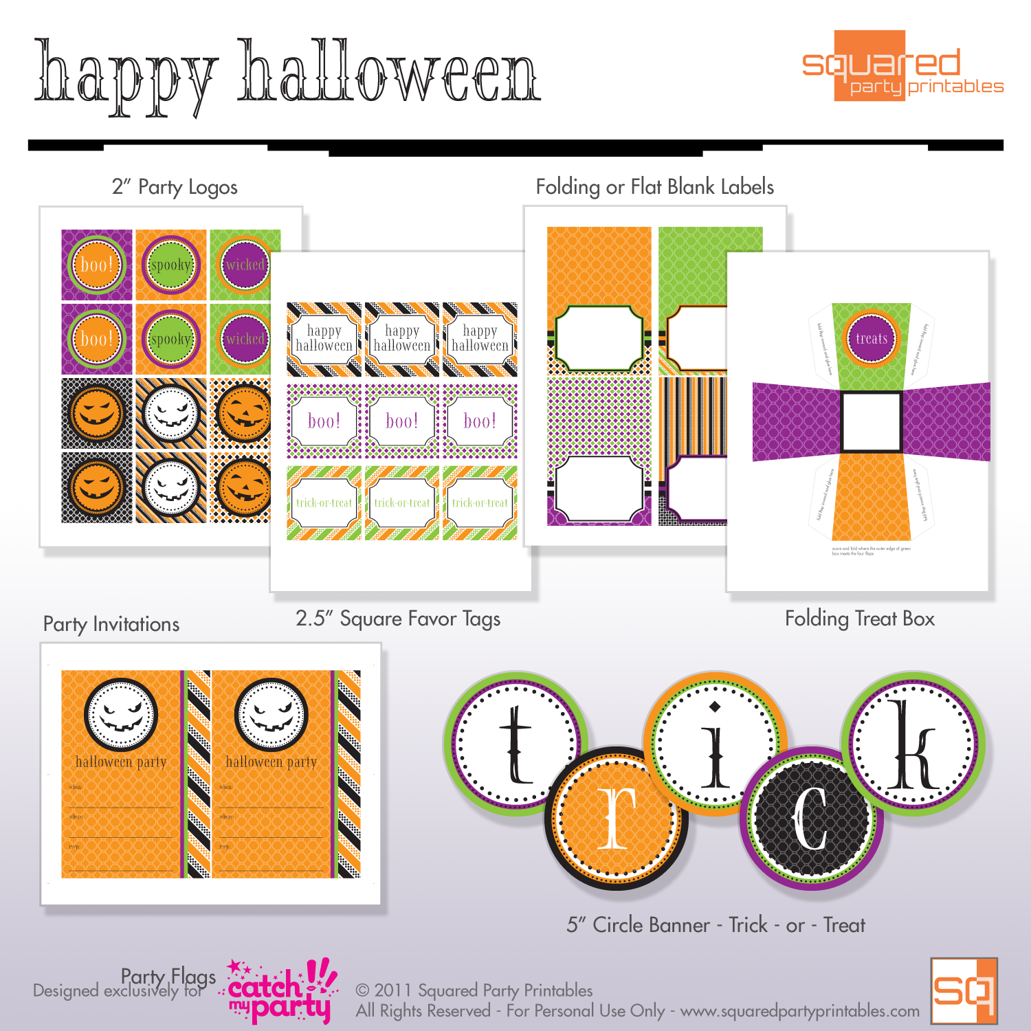 FREE Halloween Party Printables from Squared Party Printables ...