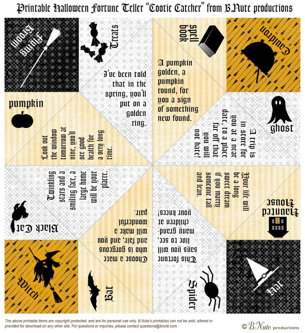 free halloween party printables from bnute productions - Free Printables For Halloween