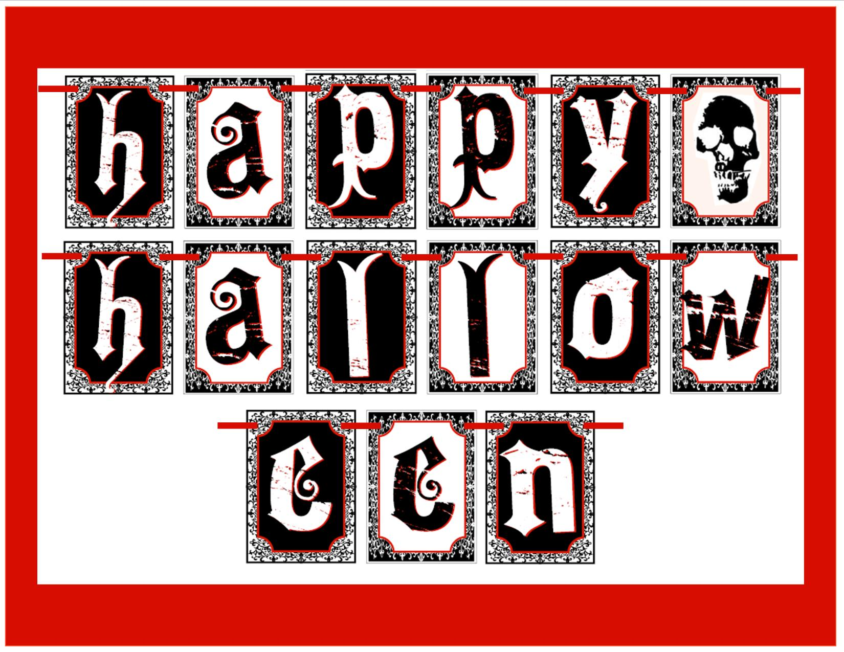 It's just a picture of Gutsy Printable Halloween Banner