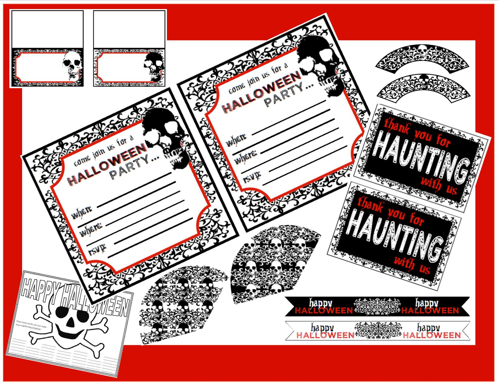 free creepy halloween printables catch my party
