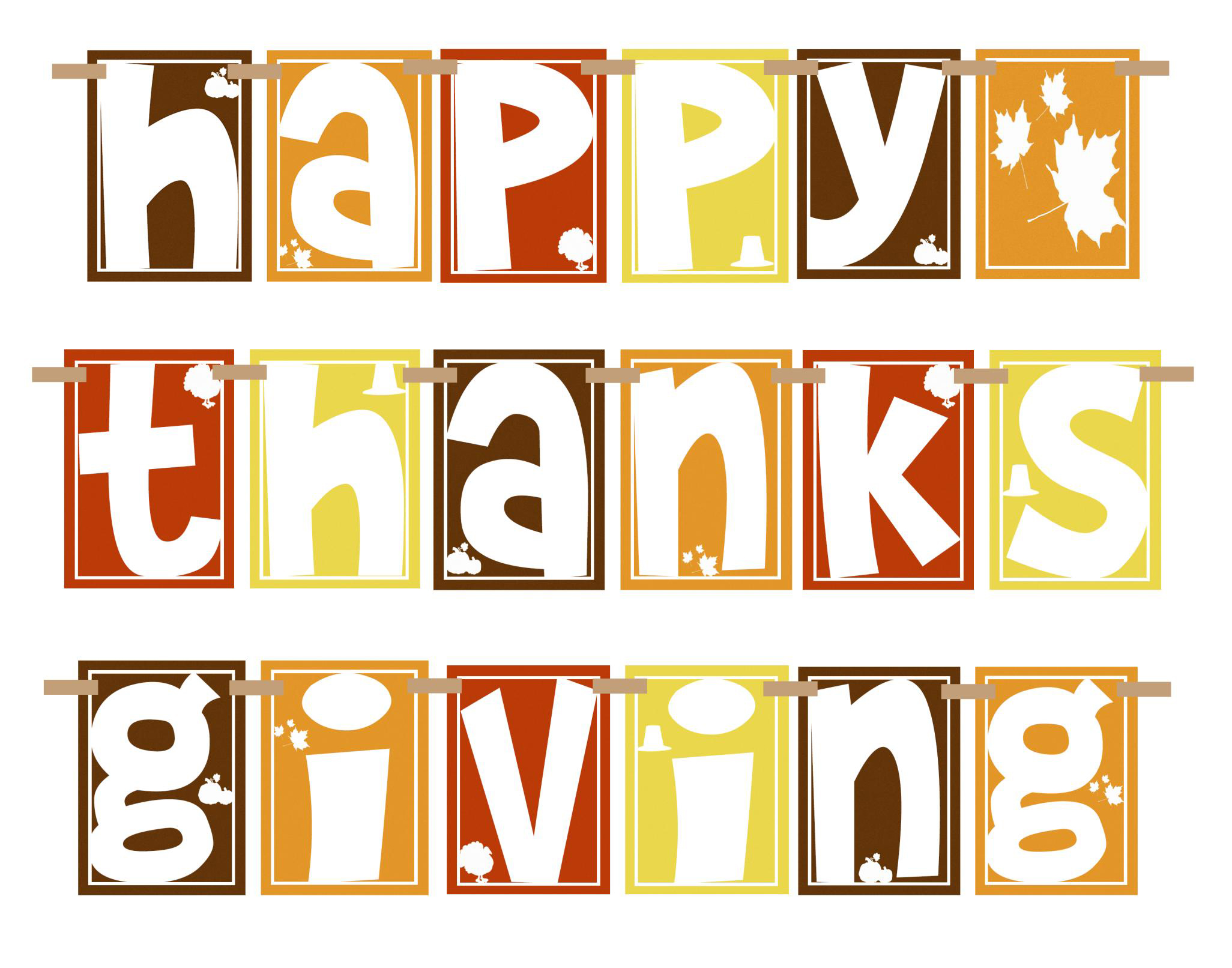 Dynamite image with regard to printable thanksgiving banner