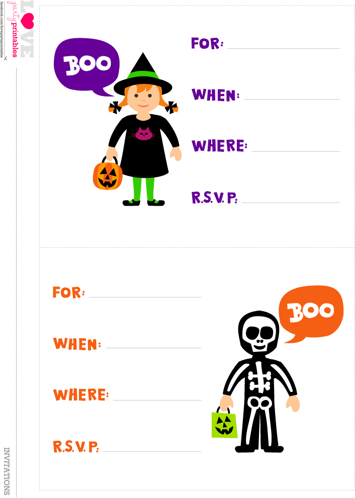 It is a graphic of Ridiculous Free Halloween Invites Printable