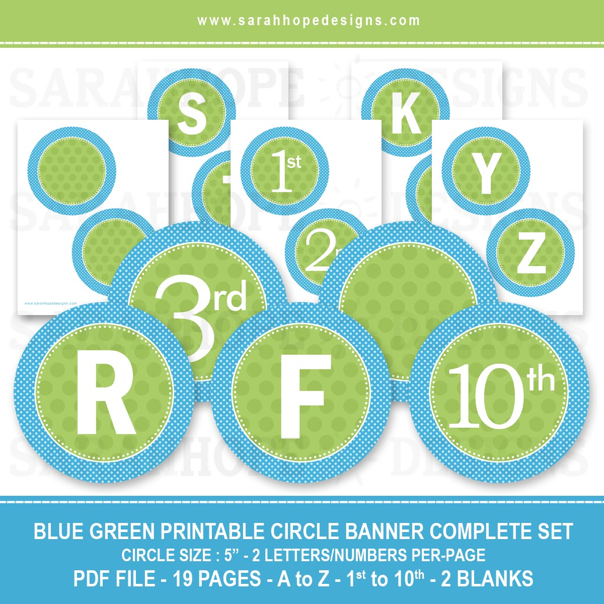 graphic about Printable Letters for Banner called Spell Out Nearly anything With these types of Totally free Alphabet Circle Banners
