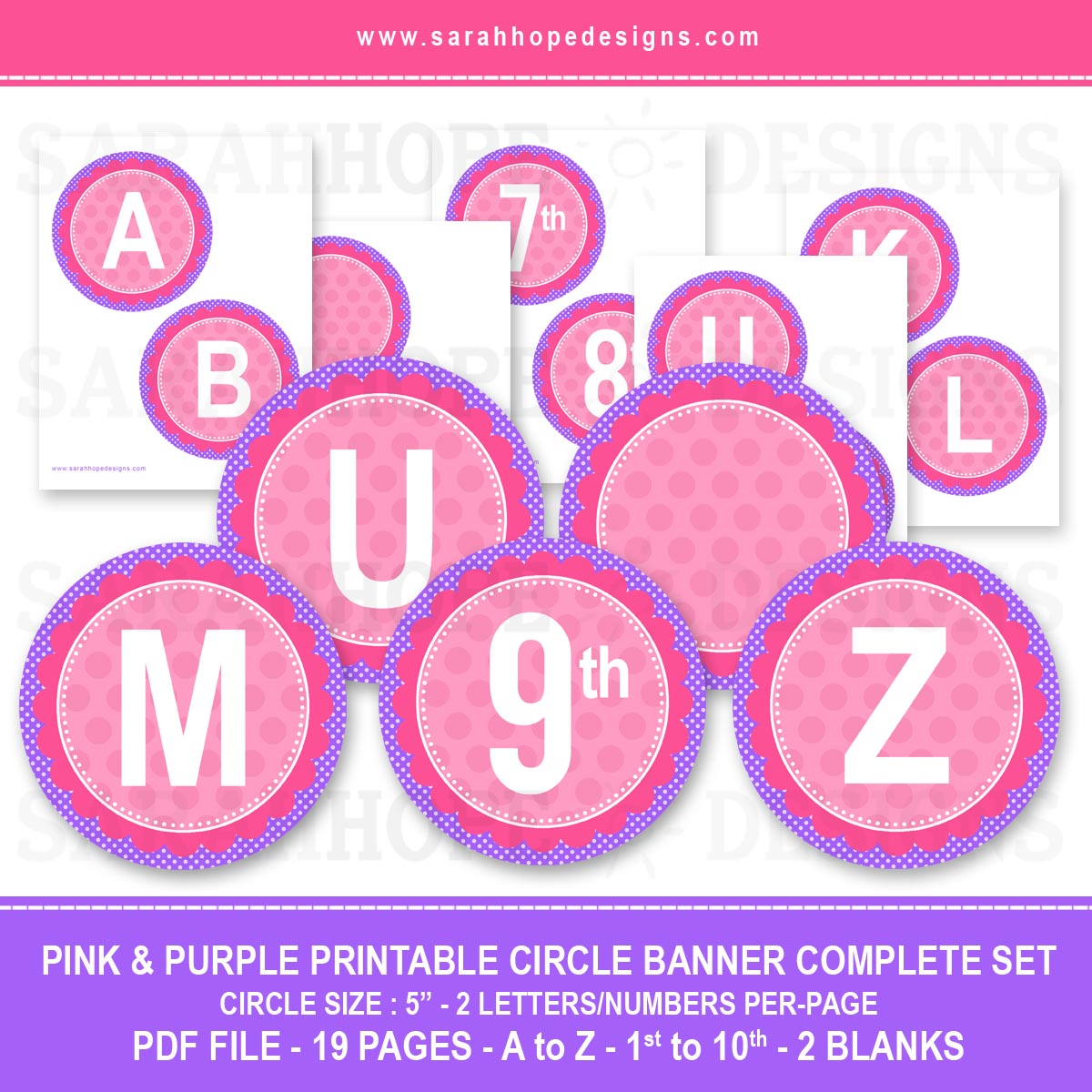 Spell out anything with these free alphabet circle banners from download the free alphabet banners here spiritdancerdesigns Choice Image