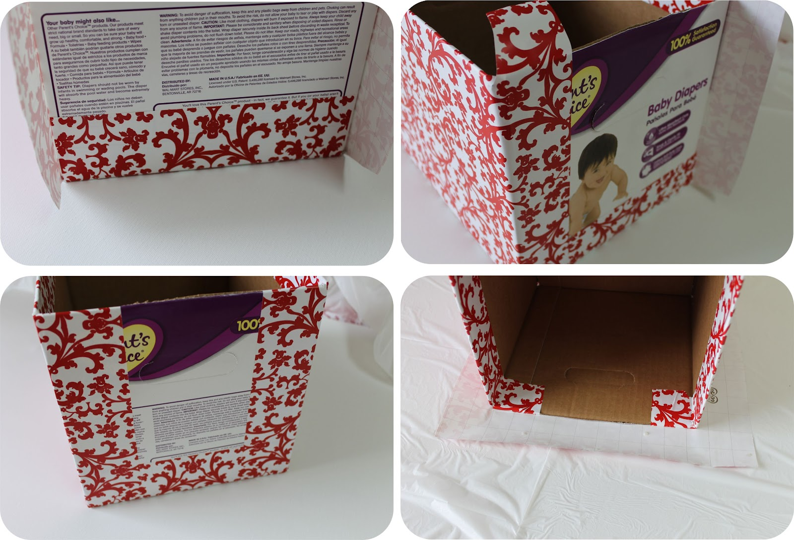 {DIY} How To Recycle Cardboard Boxes Into Pretty Storage Boxes With  Editable Labels | Catch My Party