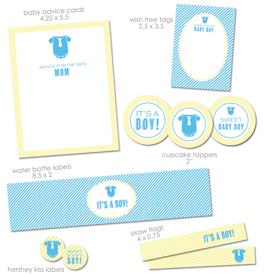 Free Printable Baby Shower Templates for Boys 1000 x 1050