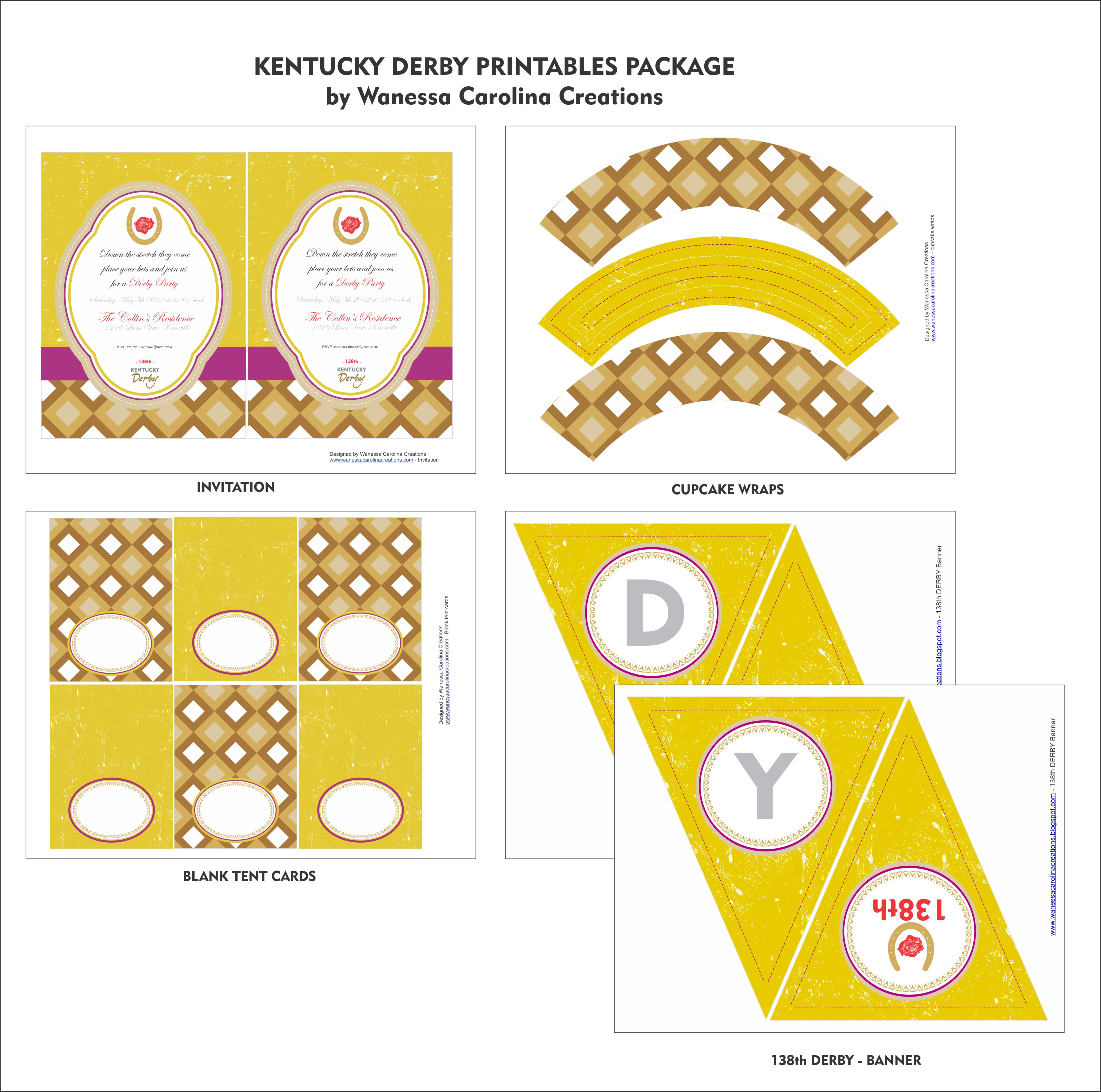 This is a picture of Astounding Free Kentucky Derby Printables