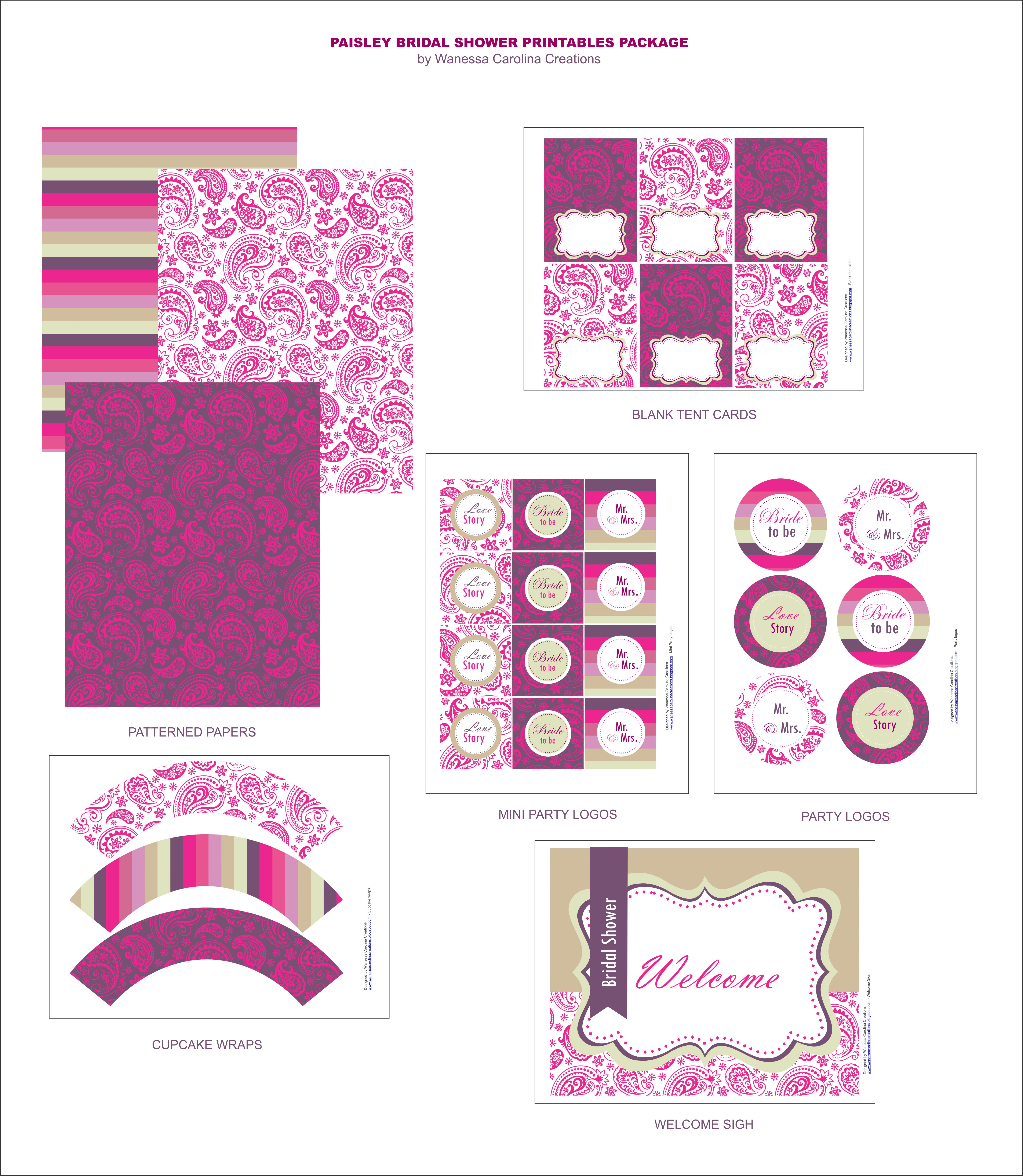Bridal Shower Templates | Giveaway Win A 120 Collection Of Custom Party Printables From