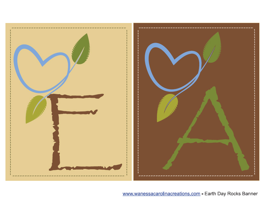 free earth day party printables from wanessa carolina creations