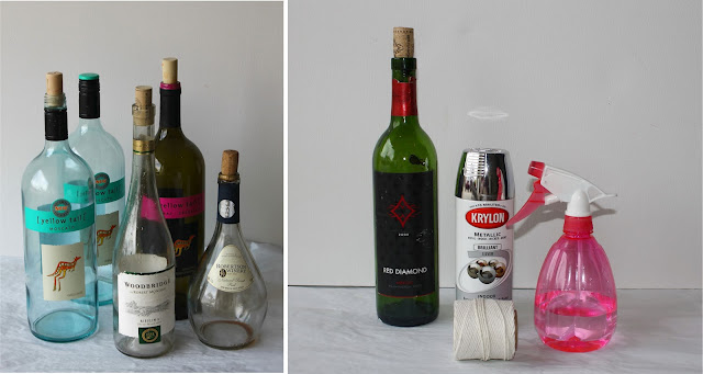 Decorative Wine Bottles Diy Pleasing Diy How To Make Vintage Paint Wine Bottles  Catch My Party Decorating Design
