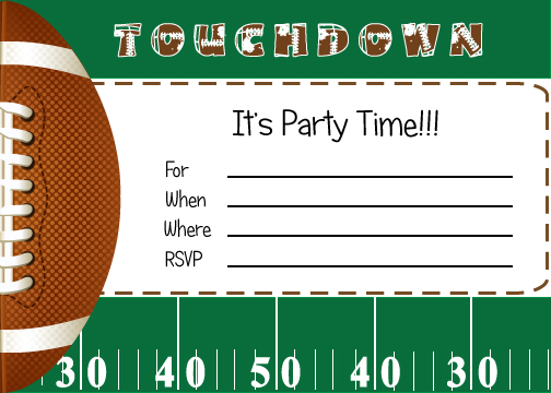 FREE Football Party Printables from By Invitation Only DIY | Catch My Party