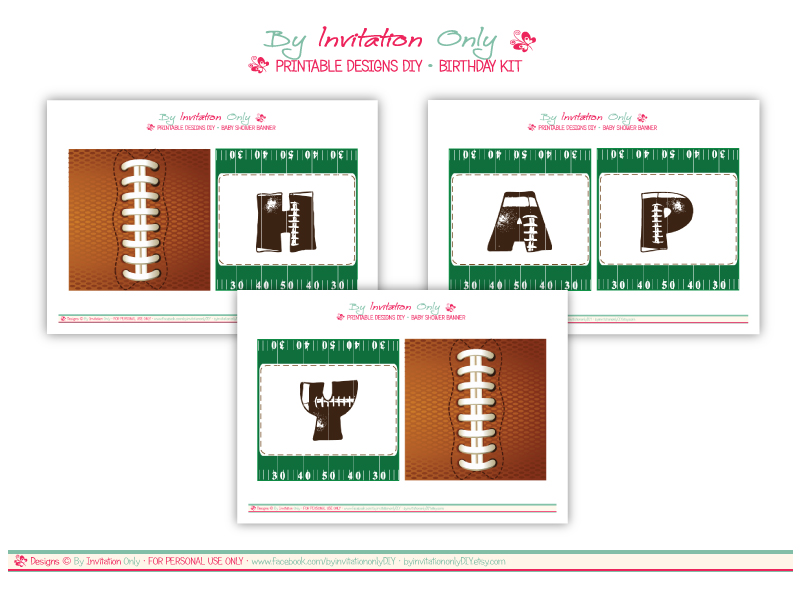 graphic about Free Printable Football Invitations titled Cost-free Soccer Social gathering Printables versus Through Invitation Simply just Do-it-yourself