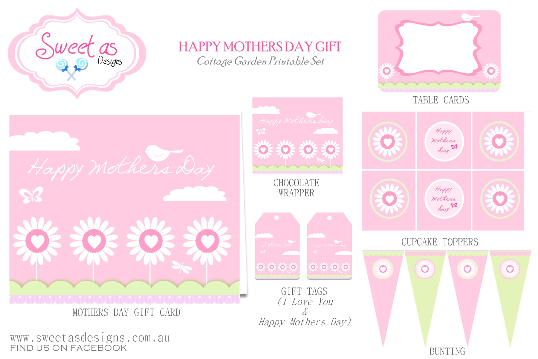 Free Mother S Day Party Printables From Sweet As Designs