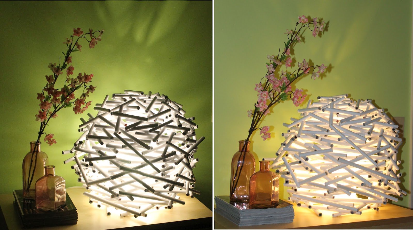 Diy how to make a birds nest lamp shade out of newspaper catch pin it aloadofball Choice Image