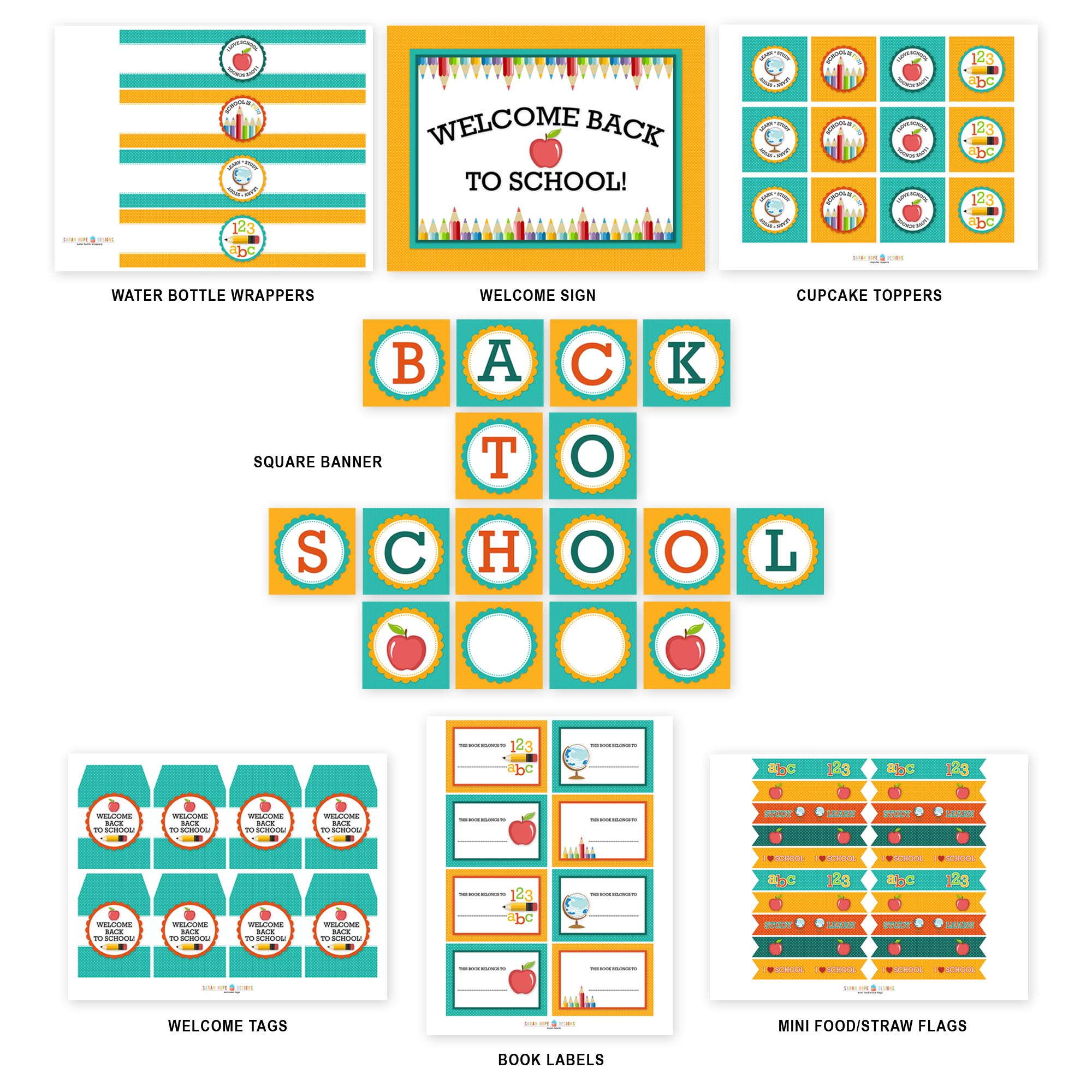 This is a picture of Playful Back to School Printable