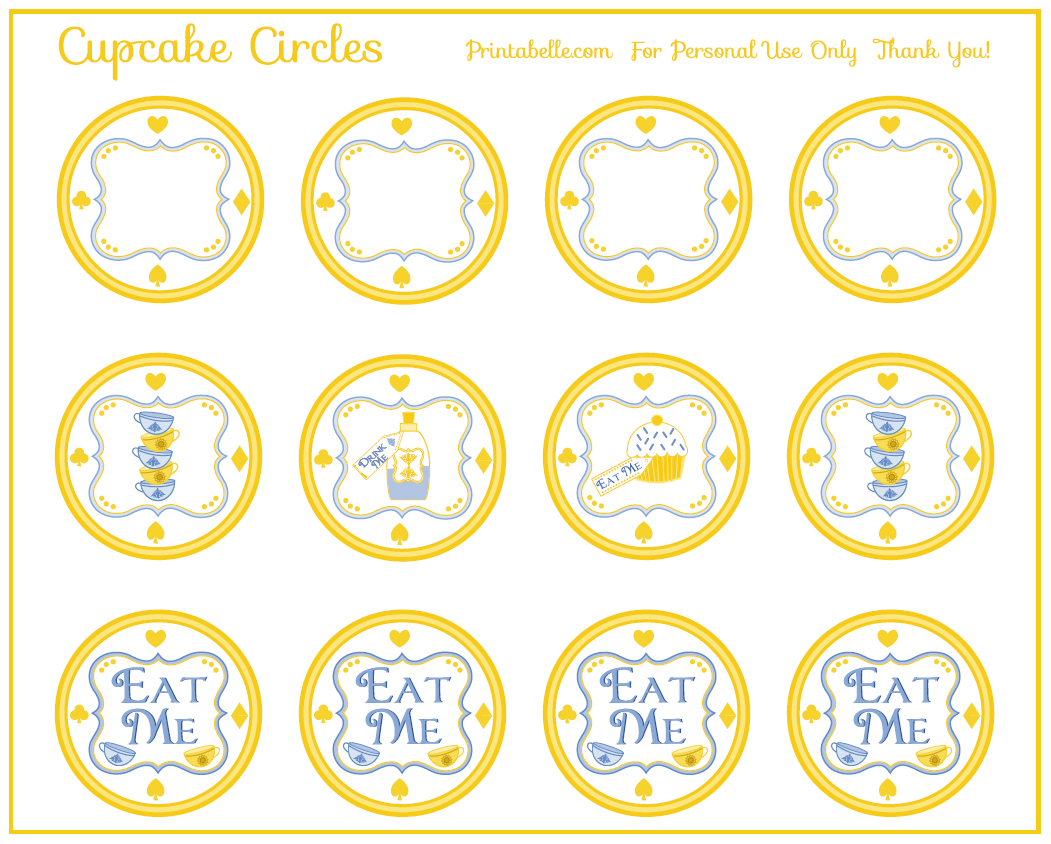 free alice in wonderland party printables