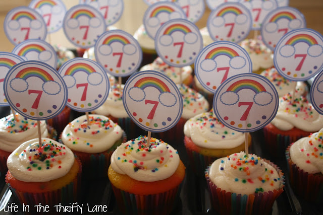 Printable Rainbow Birthday Invitations ~ Free rainbow birthday printables from printabelle catch my party