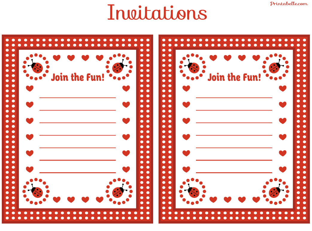 FREE Ladybug Party Printables from Printabelle | Catch My ...