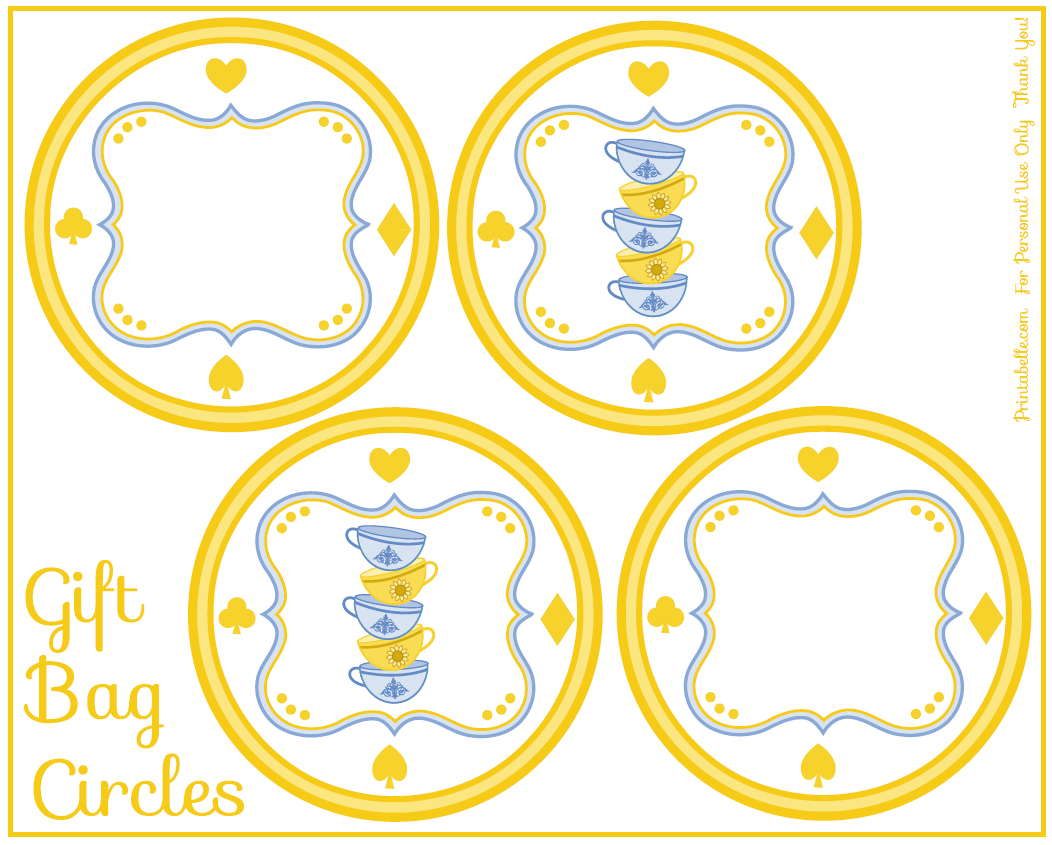 FREE Alice In Wonderland Tea Party Printables From Printabelle