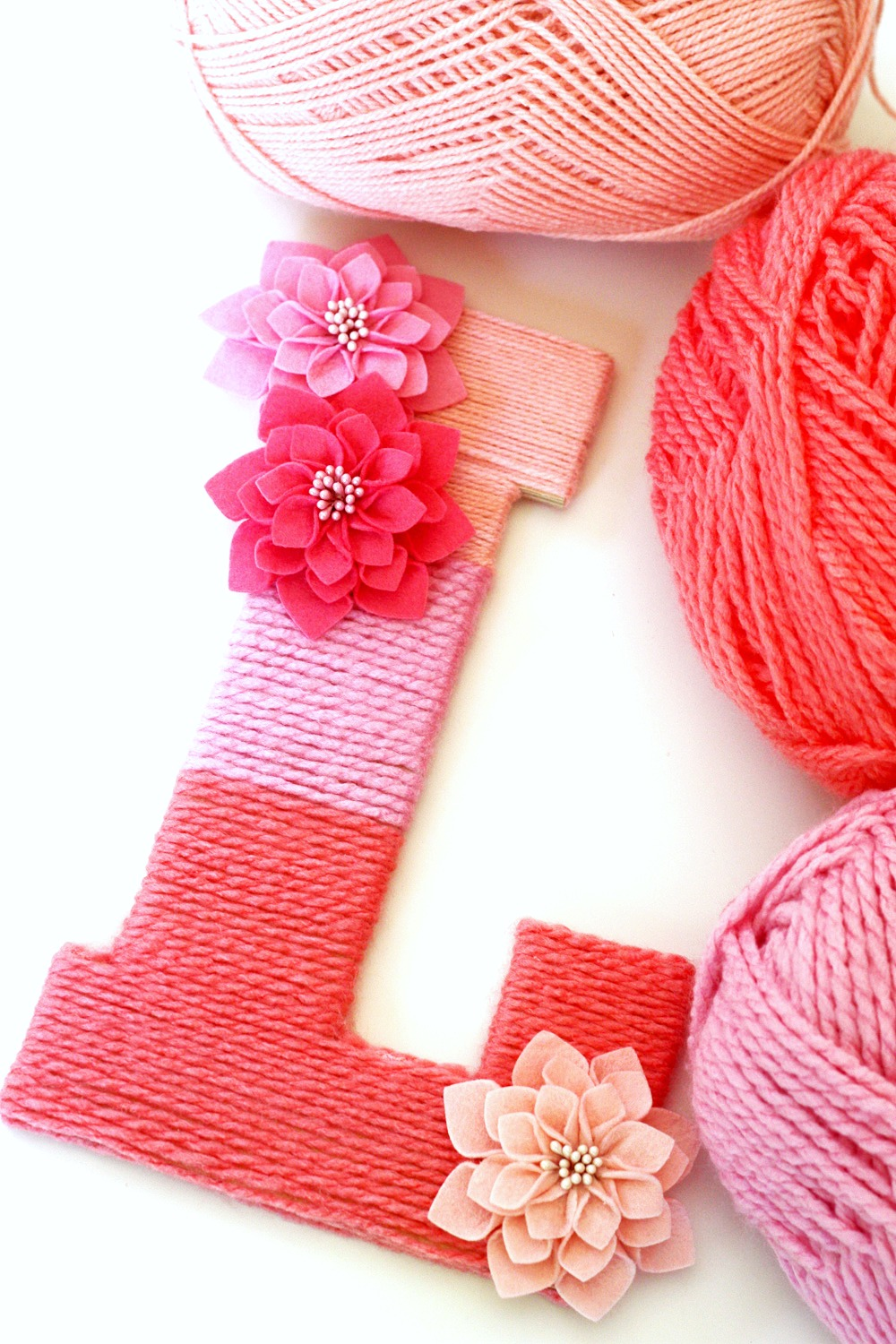 Yarn-Wrapped Ombre Monogrammed Letter | Catch My Party