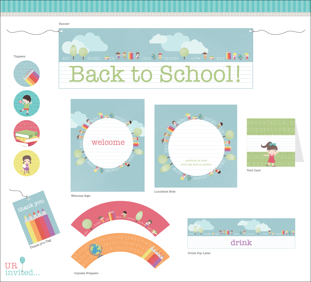 FREE Back To School Printable from URinvited | Catch My Party