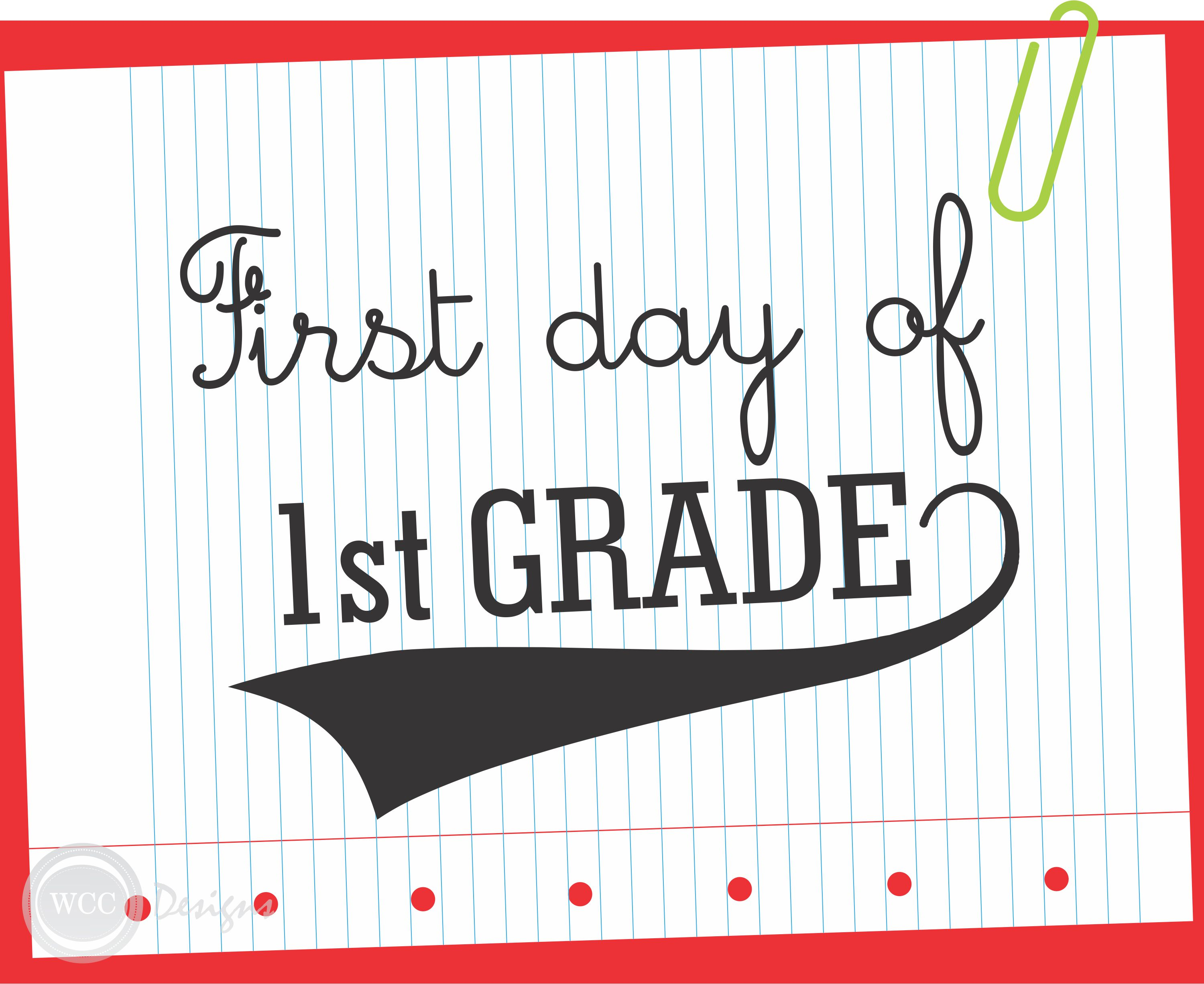 FREE First Day of School Printable Signs from WCC Designs – First Day of School Worksheet