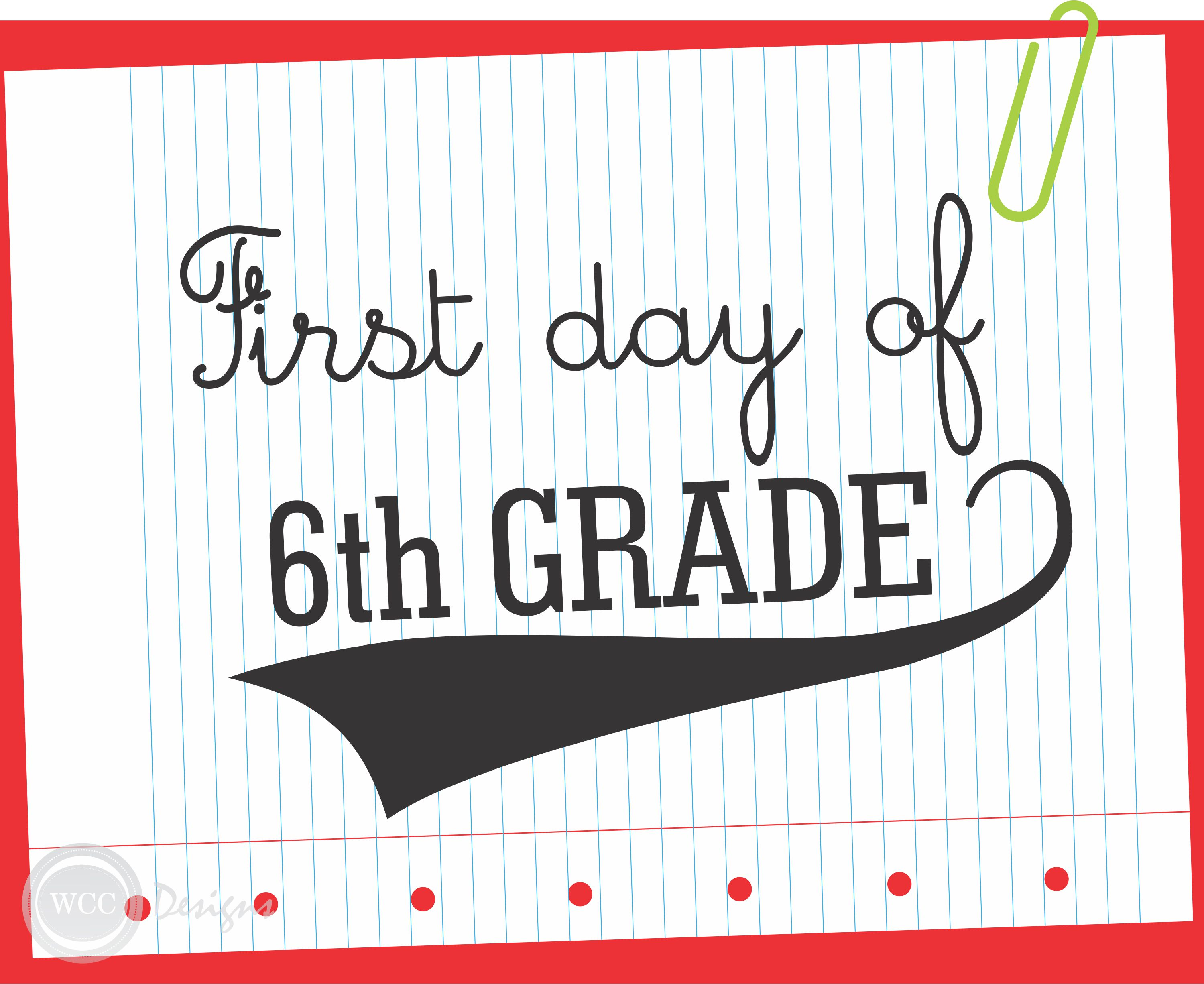 Free First Day Of School Printable Signs From Wcc Designs  Catch My Party