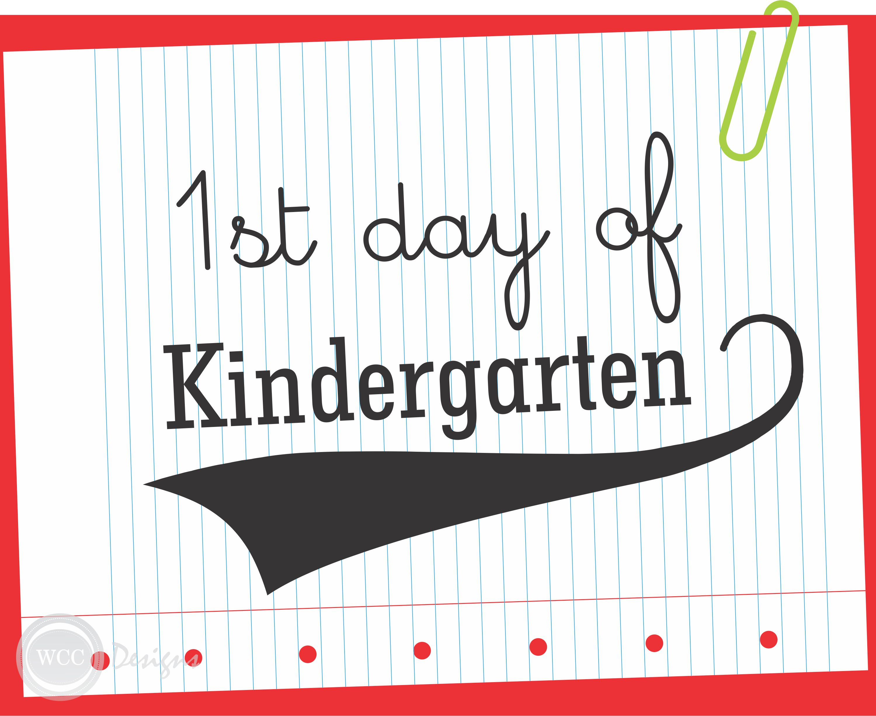 Massif image throughout first day of kindergarten printable