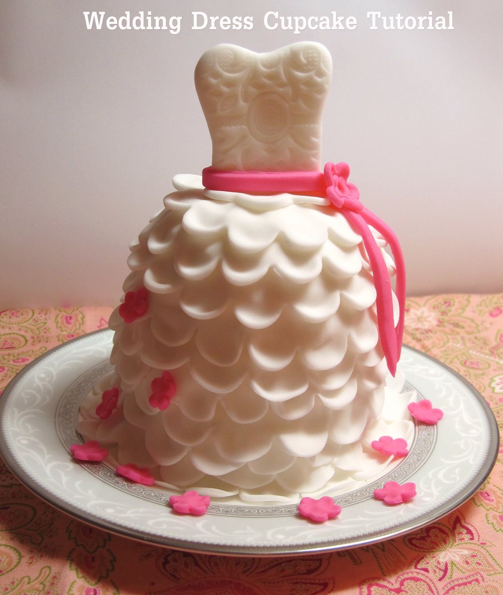 diy} how to make beautiful wedding dress cupcakes with fondant