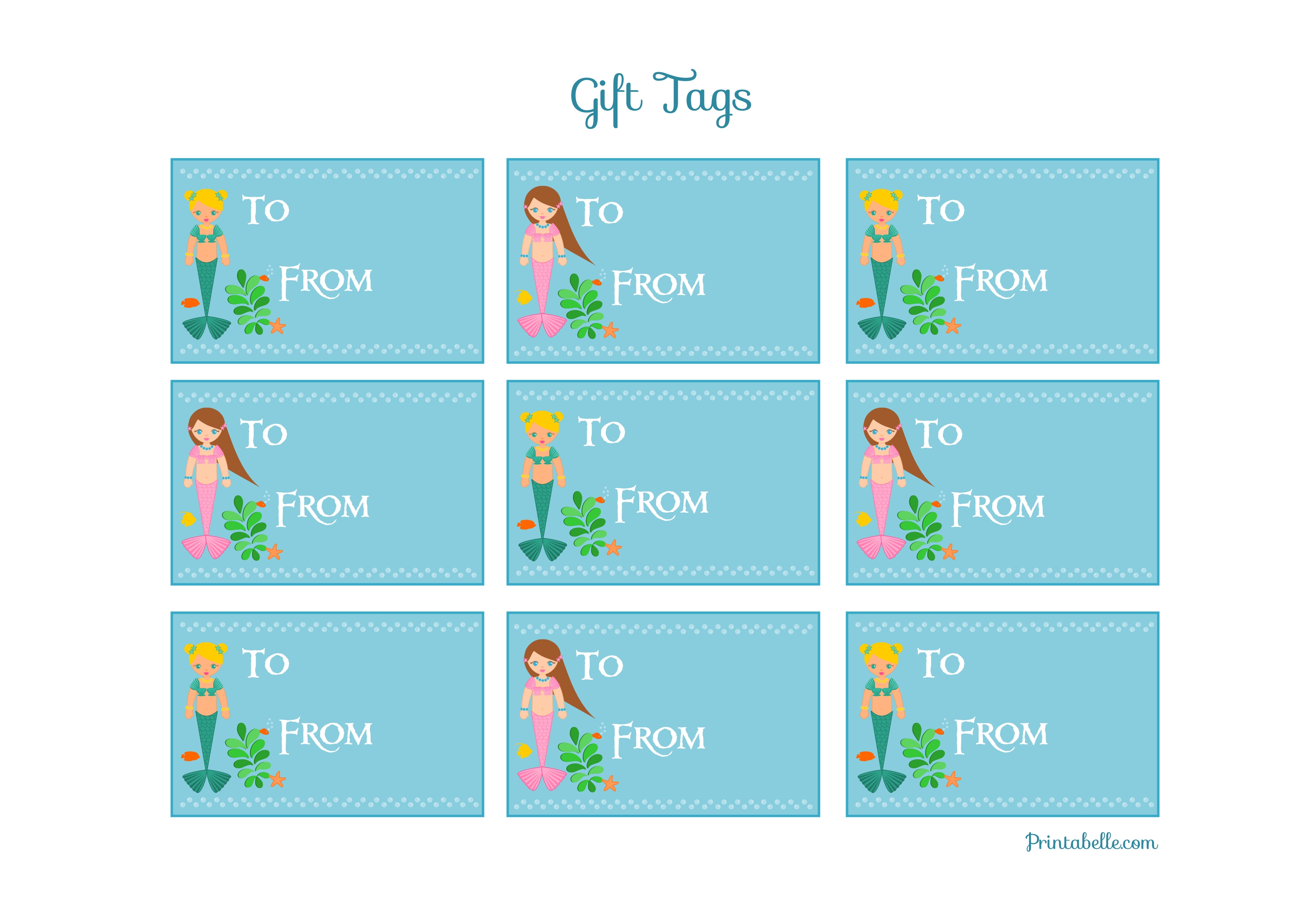 Free mermaid birthday party printables from printabelle catch my free mermaid birthday party printables from printabelle catch my party negle Gallery