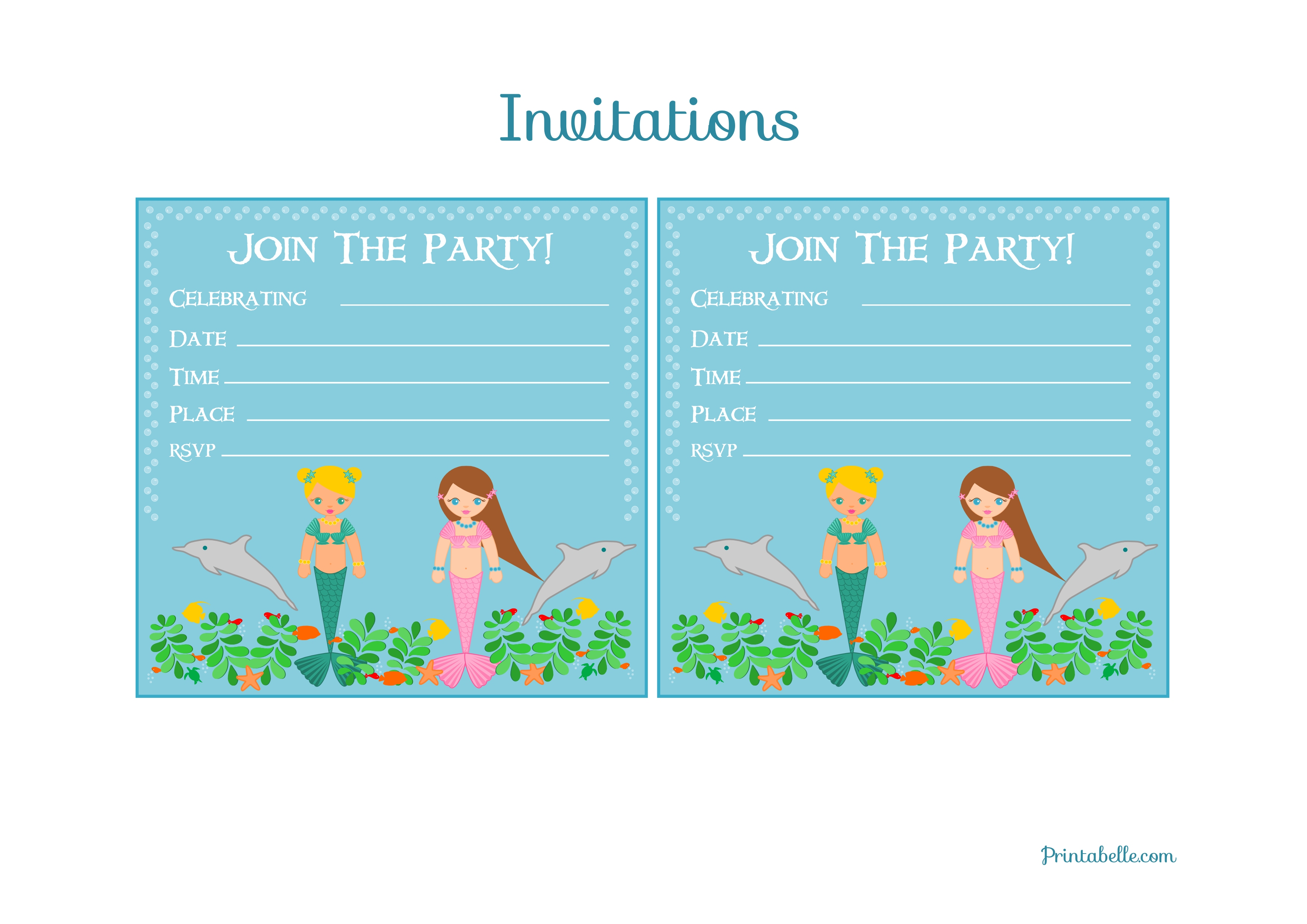 mermaid birthday party printables from printabelle catch my mermaid birthday party printables from printabelle