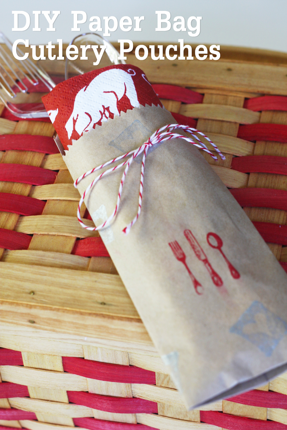 Diy How To Make Paper Bag Cutlery Pouches Catch My Party