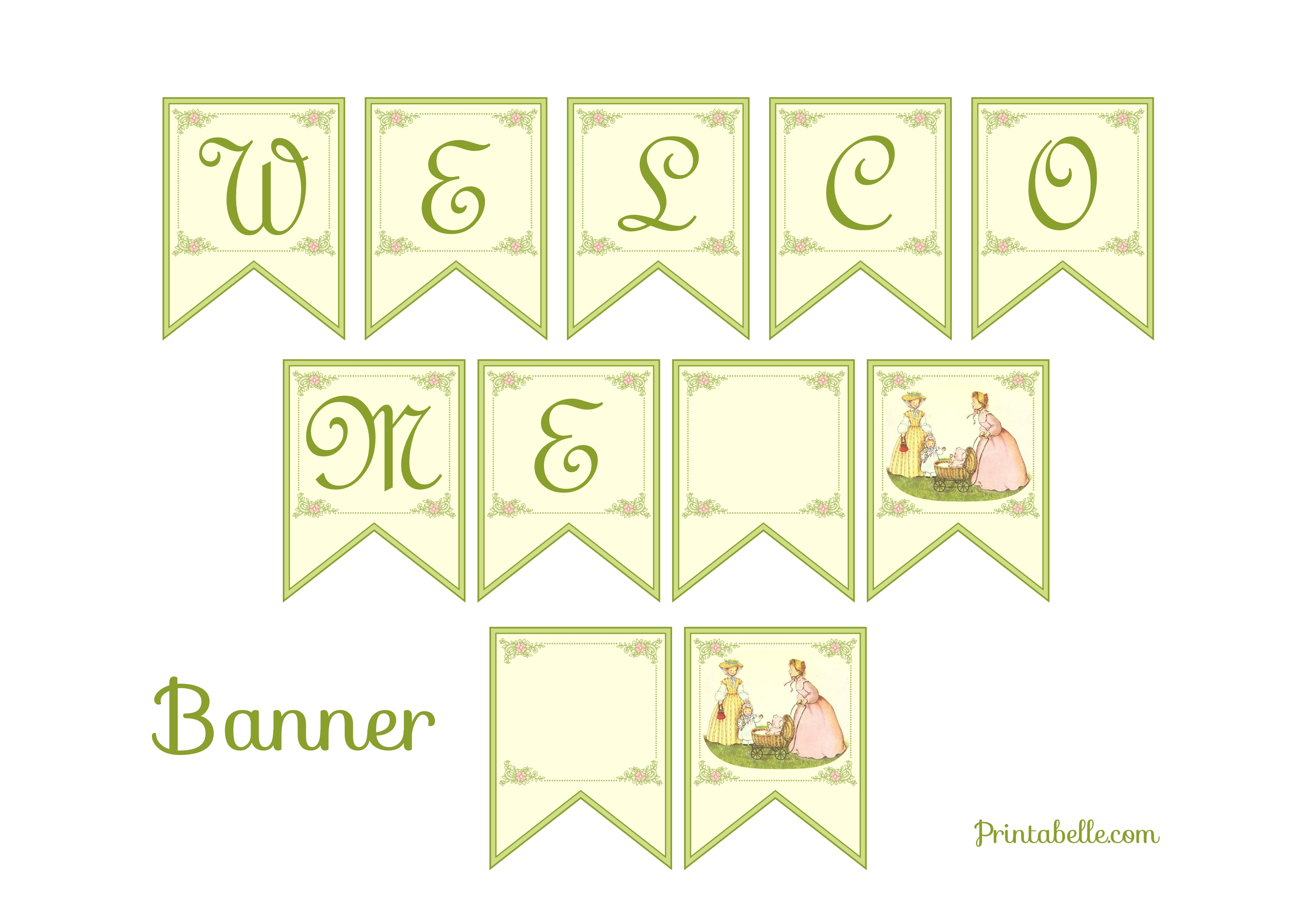 image about Baby Printables named No cost Typical Youngster Shower Printables versus Printabelle Capture