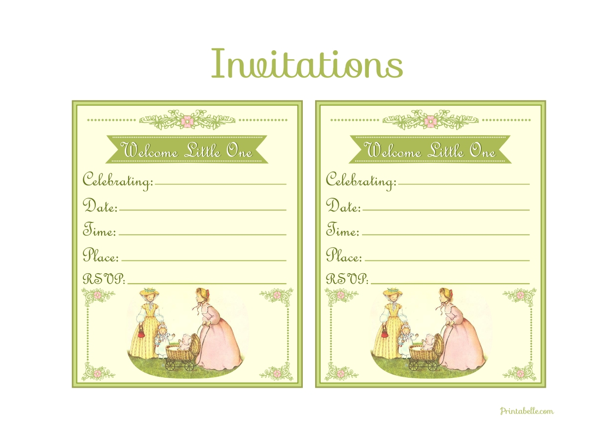 FREE Vintage Baby Shower Printables from Printabelle | Catch My Party