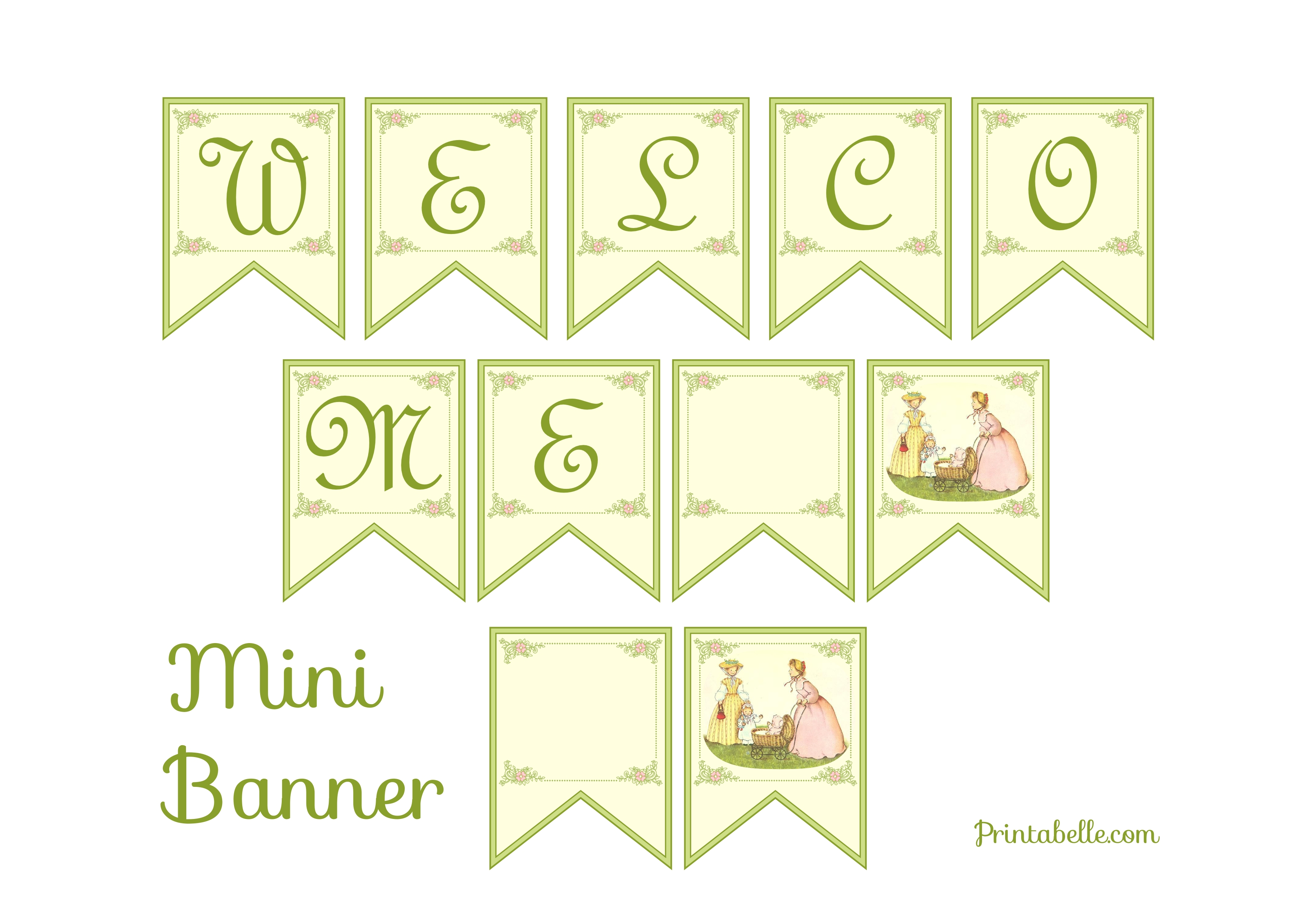 It is an image of Handy Free Printable Baby Shower Banner