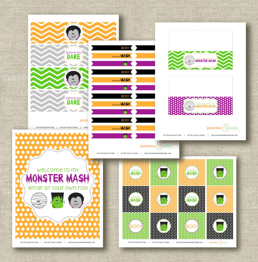 graphic regarding Mash Printable referred to as Absolutely free Halloween Printables versus Peaches Mint Style Capture