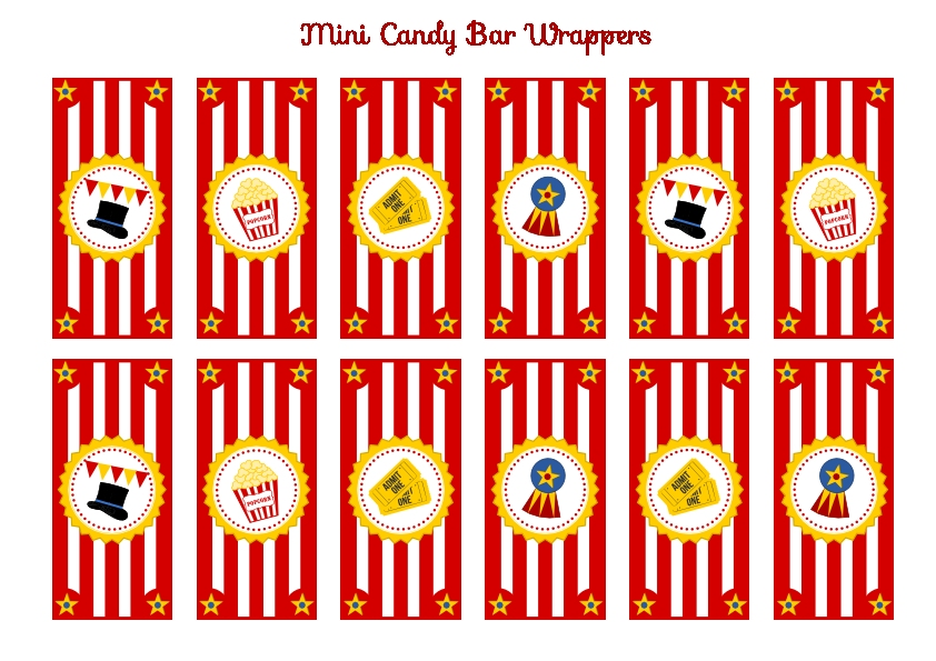 Free Circus Birthday Party Printables Catch My Party
