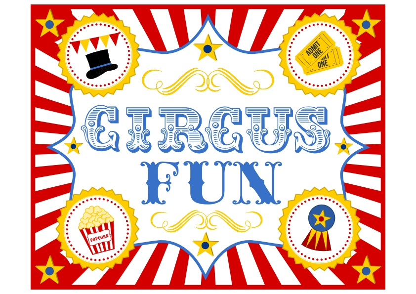 free circus birthday party printables from printabelle | catch my, Birthday invitations