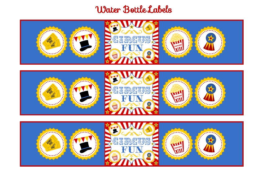 photograph relating to Free Carnival Printable known as Totally free Circus Birthday Bash Printables towards Printabelle