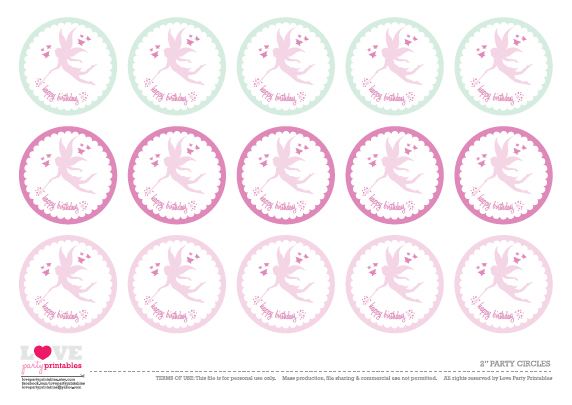 FREE Fairy Party Printables from Love Party Printables ...