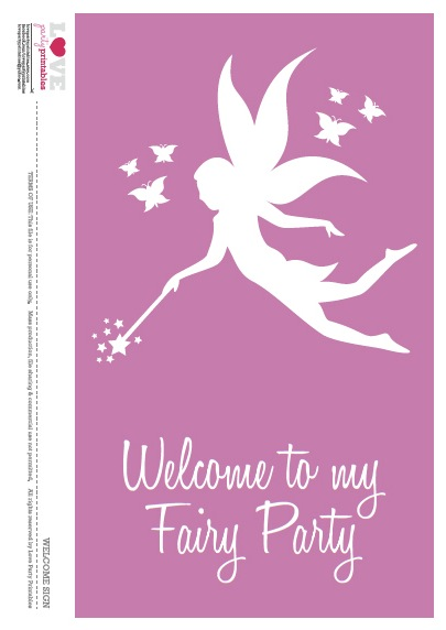 It's just an image of Comprehensive Fairy Birthday Invitations Free Printable
